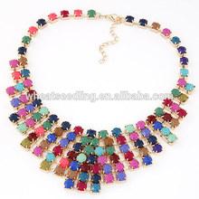 2014 nuevo estilo multicolor collares de piedras preciosas