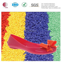 100% virgin colorful pvc granules for pvc shoes woman's shoe