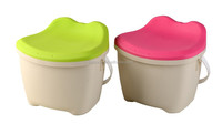 Hot sale small clear plastic buckets with lids