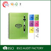 Pure color cheap price notebook with pen attached