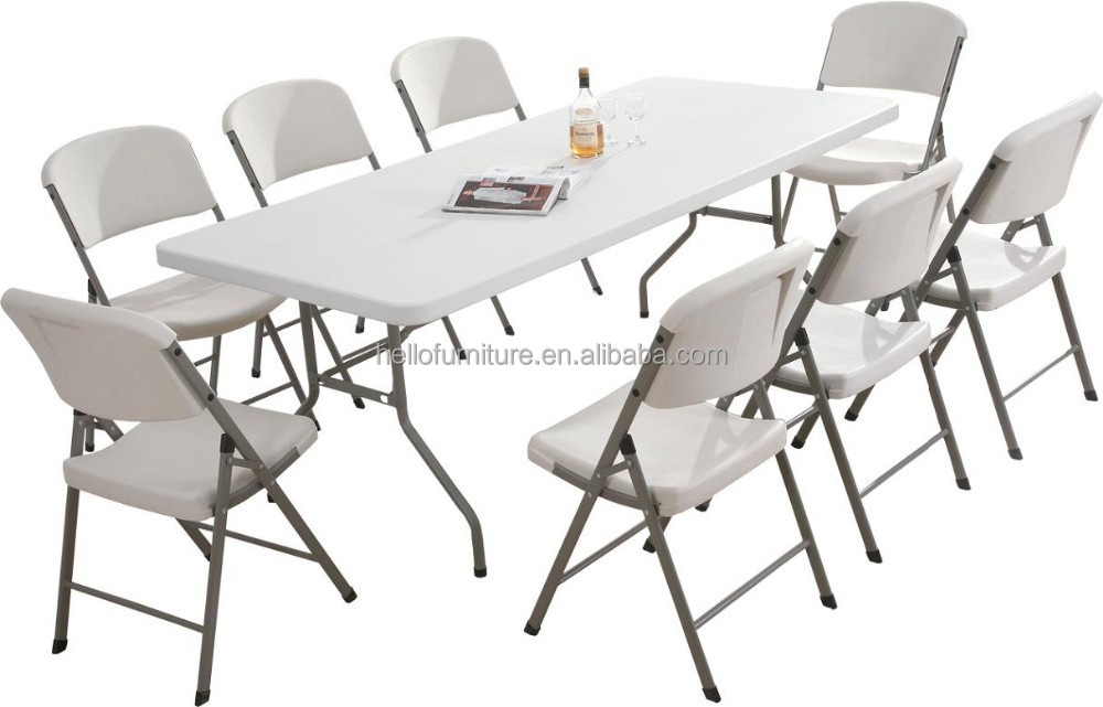 Plastic Folding Outdoor Table And Chair Set With Steel Frame Legs Buy Plast