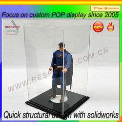 For retail shop ironman showcase display iron man show box