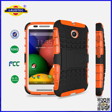 TPU and PC Case With Stand For Moto E Cell Phone-- Laudtec