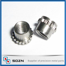 precision PEM fasteners toothed self-locking nuts