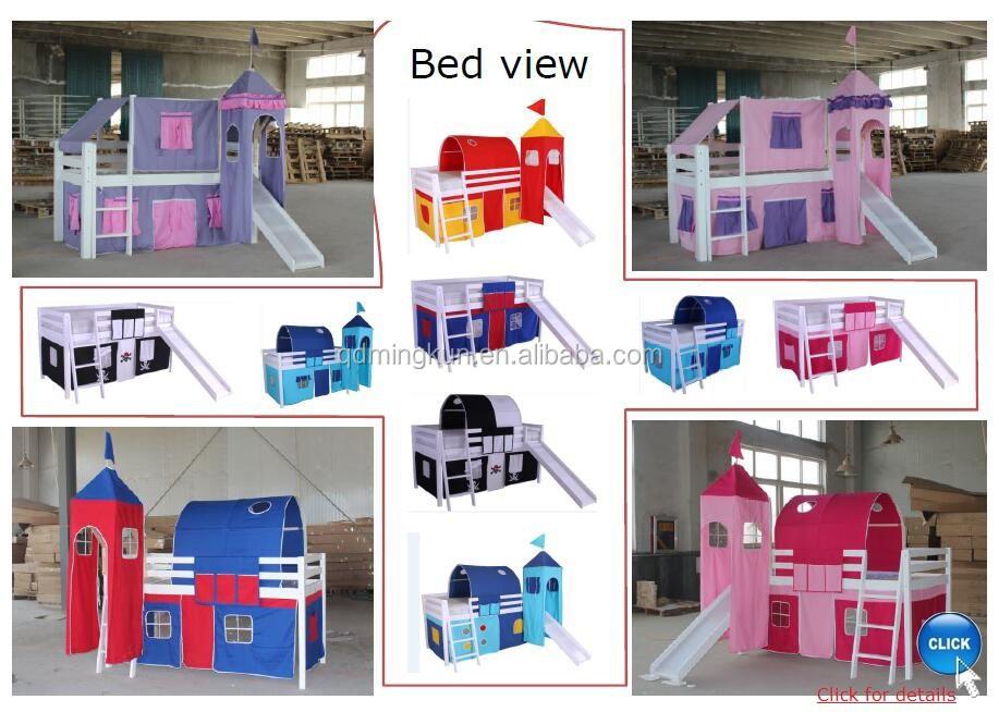 enfants lit mi lit jouer tissu tente avec baldaquin rideau ch teau autres textiles de maison. Black Bedroom Furniture Sets. Home Design Ideas