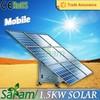 Powerful 1500w mobile sunpower solar panel for sale