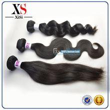Cheap virgin brazilian unprocessed body wave hair micro fiber hair extensions