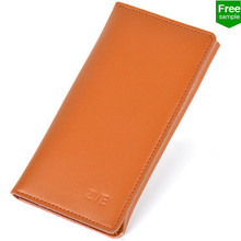 ZVE Man's purse Leather Wallet case for iPhone 6 Credit Card OEM free sample
