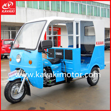Blue Electric Start Taxi Motorcycle / Four Passenger Seats With Belt Tourist Taxi Motorcycle