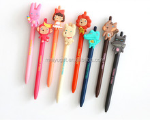 High Quality Silicone 3d Animals Shaped Plastic Cartoon Pen School Supplies