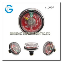 High quality brass connection pressure gauge indicator