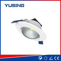 Factory 185-265V COB cheap small plastic recessed LED downlight down light for antler chandeliers