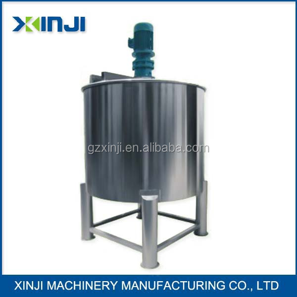 Stainless Steel Electric heating mixing tank with Agitator Factory in Guangzhou China