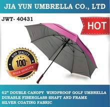Made In Taiwan Auto Open High Quality Double Canopy Windproof Golf Umbrella