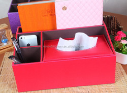 Advanced PU sundry collect box used at hotel, office, home and car