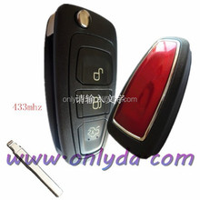 red color ford remote flip key with 433mhz