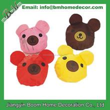 Eco-friendley Polyester Teddy Bear Shape Folding Shopping Bag