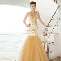 new fashion sexy dazzling sweetheart off the shoulder prom dresses beaded evening dress 2015