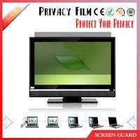 Hot selling desktop privacy screen protector, pc monitor anti spy screen film, anti peep notebook screen saver