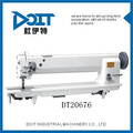 Dt20676 durável e têm boa publice louvor tipo braço longo integrado alimentação máquina de costura material grosso