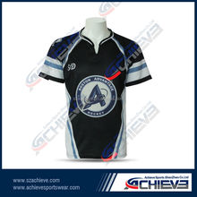 Rugby Jersey Team Wear Colour Sublimation Rugby Shirt