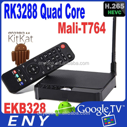 Best Google Android4.4 Quad Core RK3288 TV Box Android4.4 Smart TV Stick 2GB/8GB Remote Control H.265 RK3288 Android TV Box