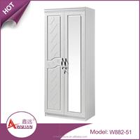 Bedroom furniture cheap wardrobe closet 2 door black bedroom wooden wardrobe design pictures with mirror