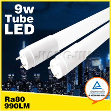 2ft led LED T5/ T8 tube with more than 100LM per Watt PF more than0.9 TUV GS listed 600mm t8 led tube