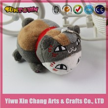 high quality japanese grey plush cat for keychains