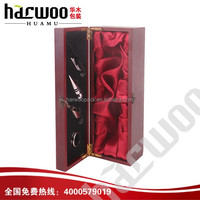 Independent wooden box wine with opener for one bottle