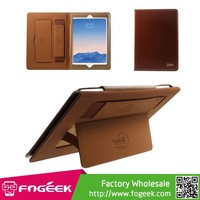 Paypal Accepted KAKUSIGA Crazy Horse Smart Leather Stand Case for iPad Air w/ Hand Strap