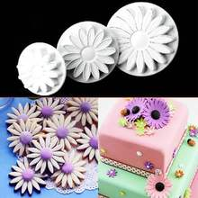 1Set/3Pcs Sunflower Plunger Cutter Mold Decorating Cake Fondant Sugarcraft Paste Tool