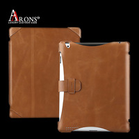 Ultra-thin genuine cowhide leather flip case for ipad air 2