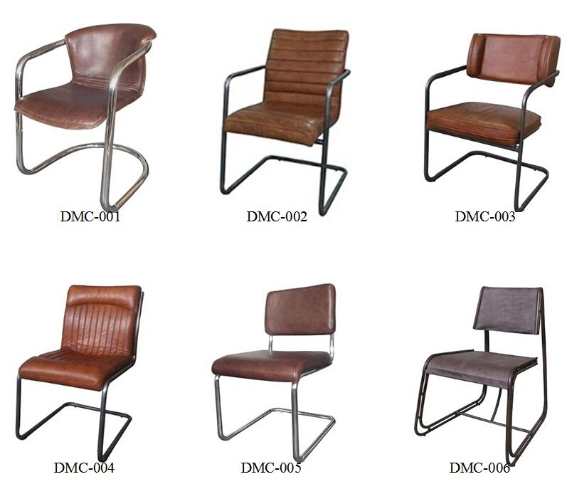 American Rustic Industrial Retro Iron Scaffold Leather