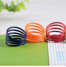 Fluorescent color candy color fine spiral spring ring