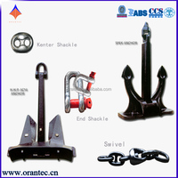 Navy Ship Anchors Sale Marine Anchor with Chain Shackle Swivel for Sale