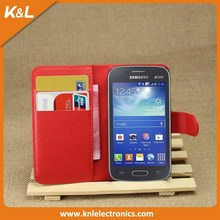 Best Selling Stand Cover PU Leather Flip Wallet case for SamSung Galaxy S4 mini i9190 with Business Card Holder