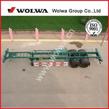 2-3 axles skeleton semi trailer container chassis for two 20inch containers at one time