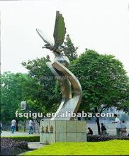 stainless steel eagle sculpture modern abstract sculpture