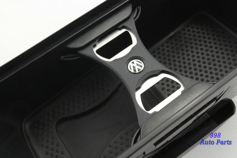 vw oem black louver cup drink holder with bottle opener for volkswagn jetta mk5 golf mk6 gti r20. Black Bedroom Furniture Sets. Home Design Ideas