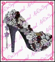 Aidocrystal fashion Leather Ladies wedding High Heels, Stiletto heels High Heel Shoes for Women