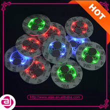 New party products two lights LED flash drink coasters