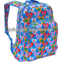 New arrival top quality wholesale silk printing impact teens school bag