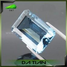 Emerald cut sky blue rectangle topaz wholesale stone