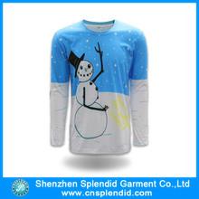 Algodón de OEM servicio Cutom hombres del diseño y poliéster liso blan camiseta