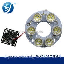 6 led 12V lamp white led camera accessory wholesale array ir illuminator light 2 years warranty ir illuminator