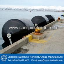 Ocean PU 2.5m*4.0m Foam filled floating Marine fenders