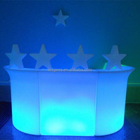 Event Furniture Led Light Bar Tables High Beer/Wine Interactive Bar Table