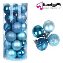 High Quality Pvc Box Package Christmas Decorative Plastic Christmas Ball