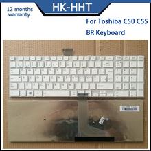 White color!For TOSHIBA C50 C55 Teclado Brazil layout laptop keyboard
